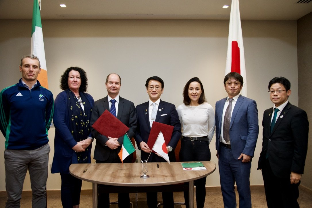 image hockey ireland signs mou with iwate delegates for pre games holding camp